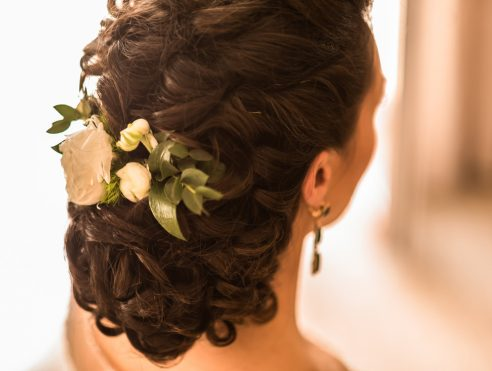 bridal hair and makeup work